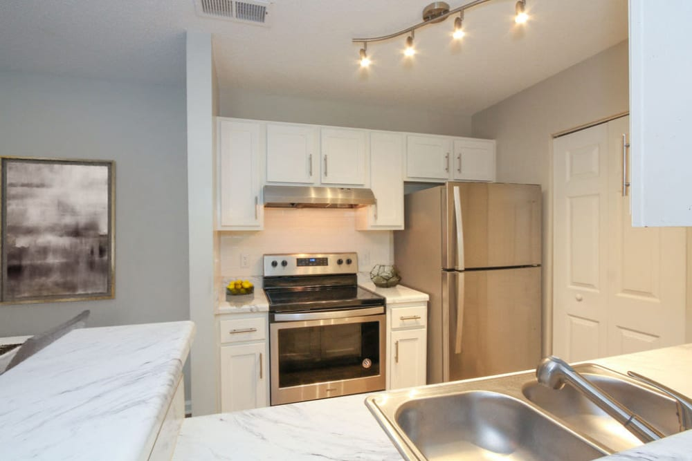 Model kitchen at Palmetto Place in Fort Mill, South Carolina