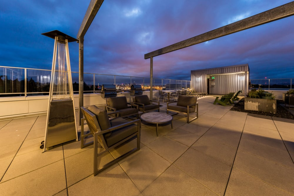 Patio seating at Marq West Seattle in Seattle, Washington
