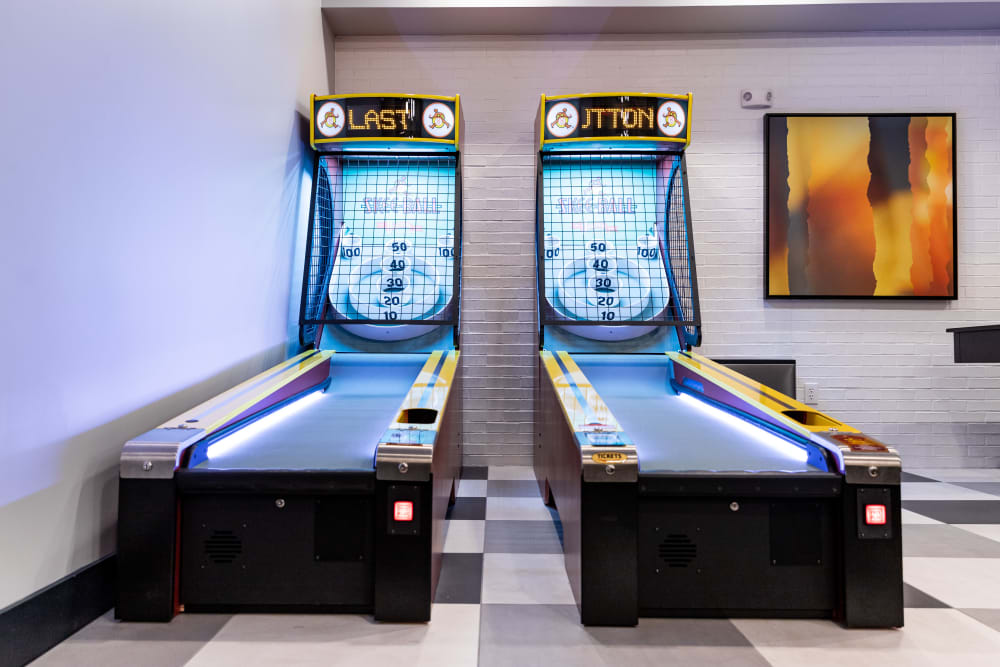 Game room at The Clark in Austin, Texas
