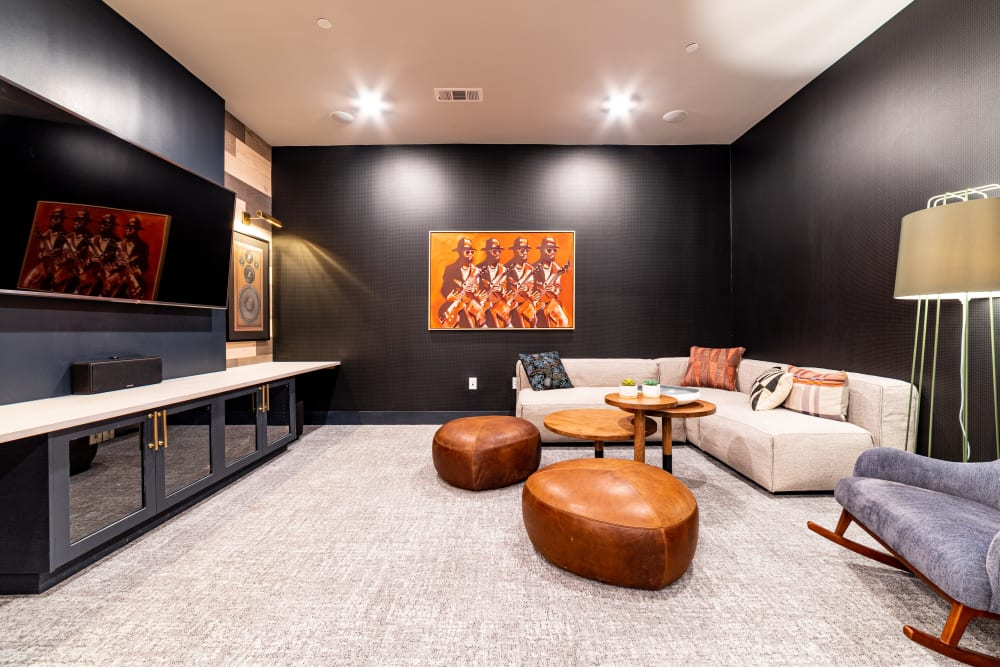 Movie viewing room at The Clark in Austin, Texas
