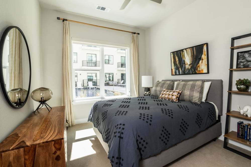 Bright bedroom at The Clark in Austin, Texas