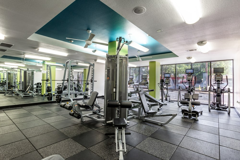 Fitness center at Regents West at 24th in Austin, lsn