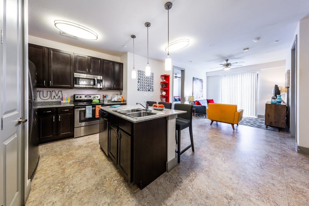 Spacious kitchen at Regents West at 24th in Austin, Texas