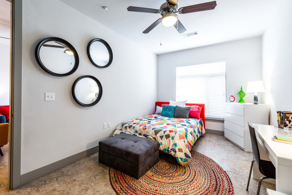 Primary bedroom at Regents West at 24th in Austin, Texas