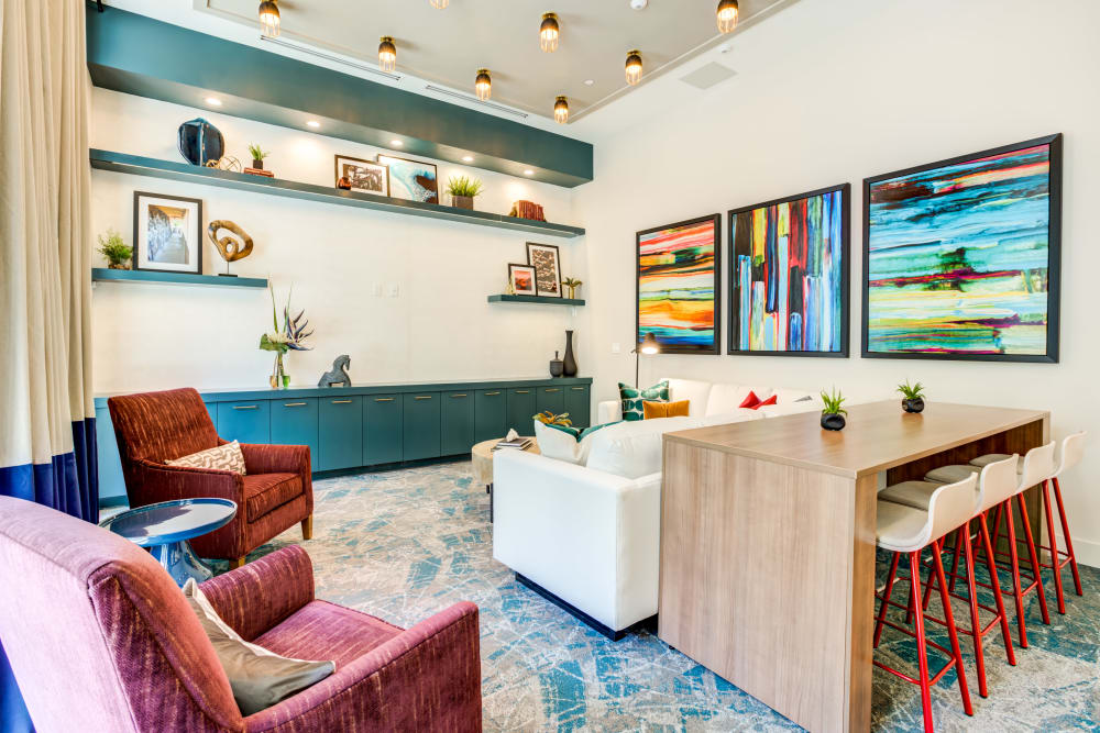 Resident Lounge at Solera at City Centre in Palm Beach Gardens, Florida