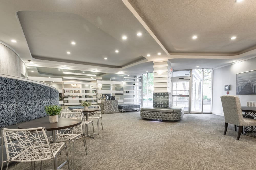 Communal area to hang out with residents and friends at Pembroke Towers in Norfolk, Virginia