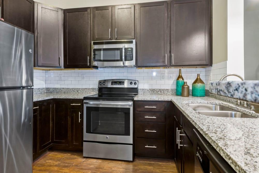 Model kitchen at 401 Oberlin in Raleigh, North Carolina