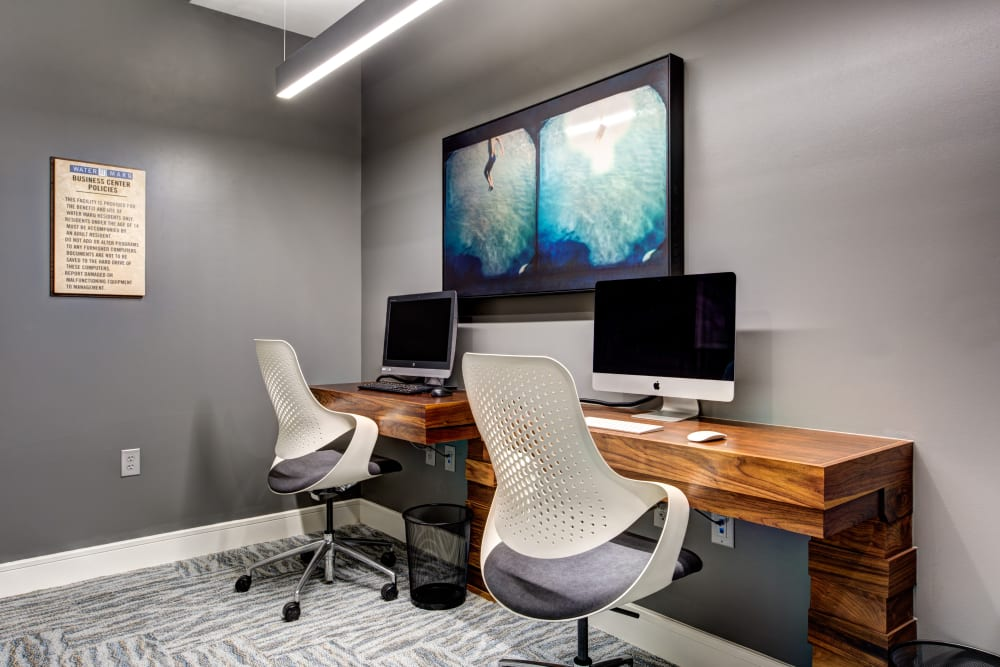 Business center at Water Marq in Austin, Texas