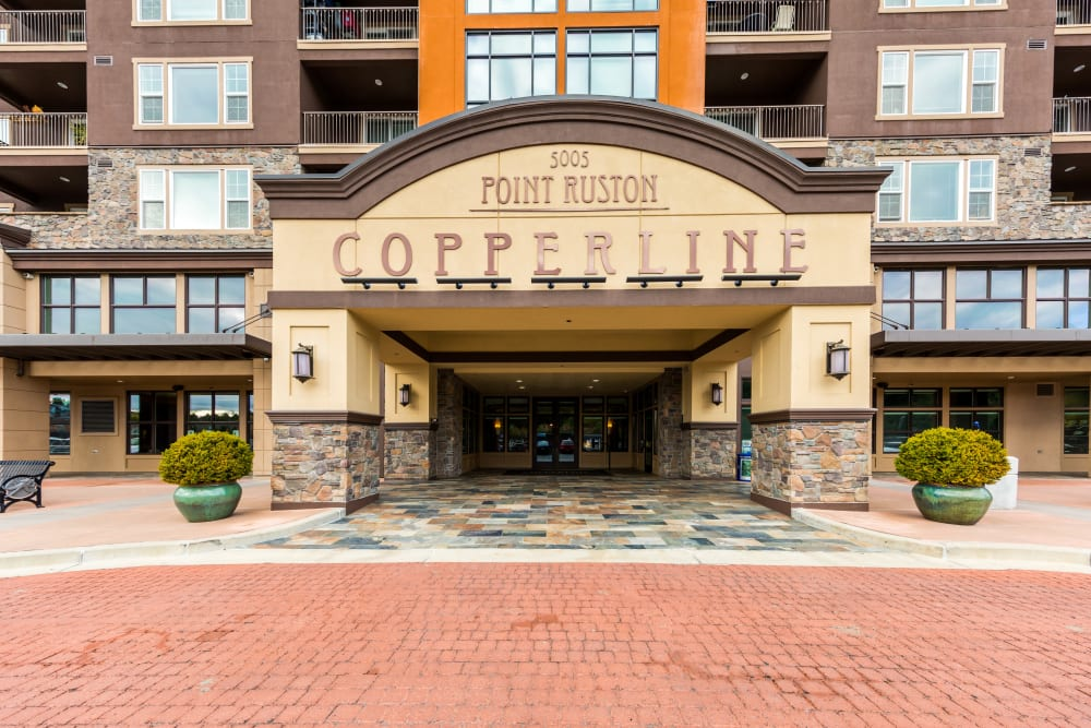 Copperline at Point Ruston's entrance in Tacoma, Washington