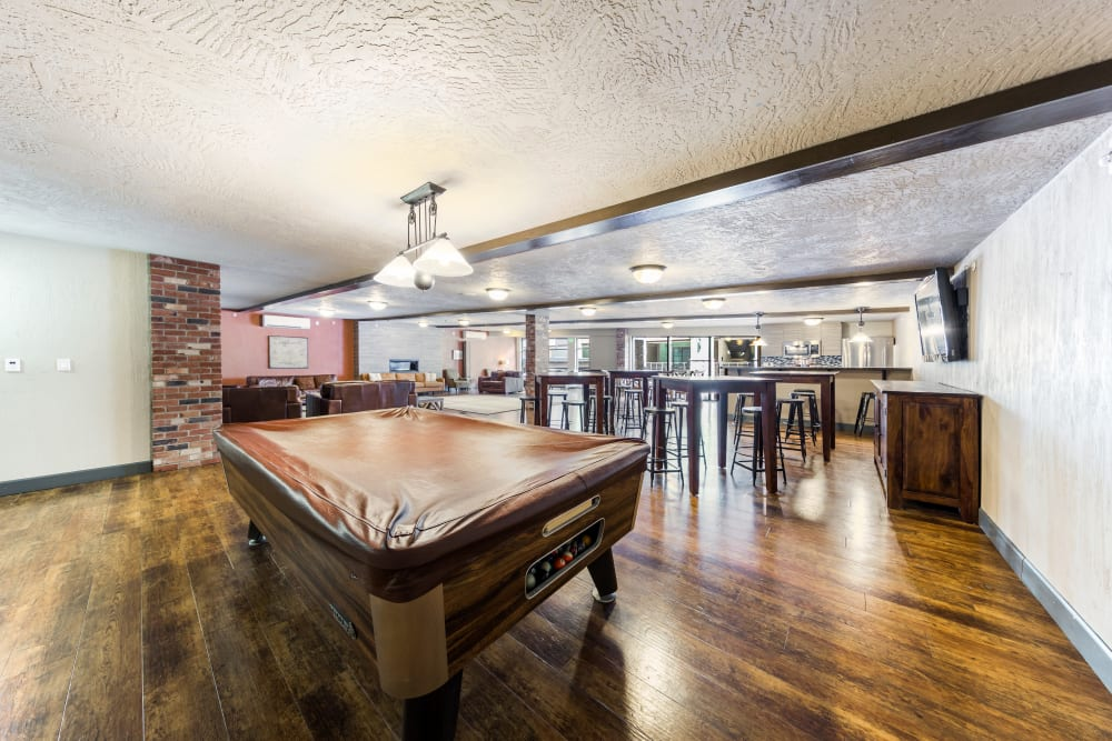 Billiards at Copperline at Point Ruston in Tacoma, Washington