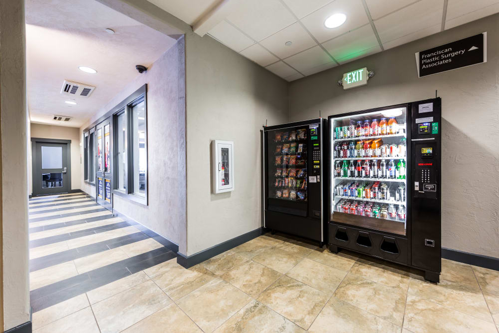 Vending machines at Copperline at Point Ruston in Tacoma, Washington