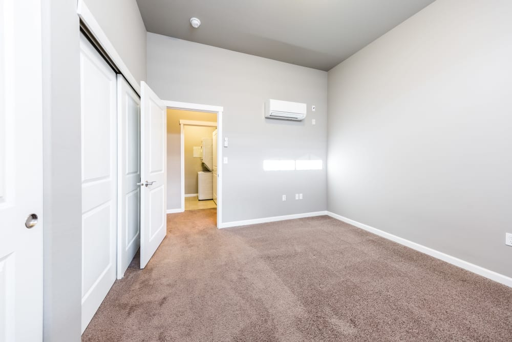 Bedroom at Copperline at Point Ruston in Tacoma, Washington
