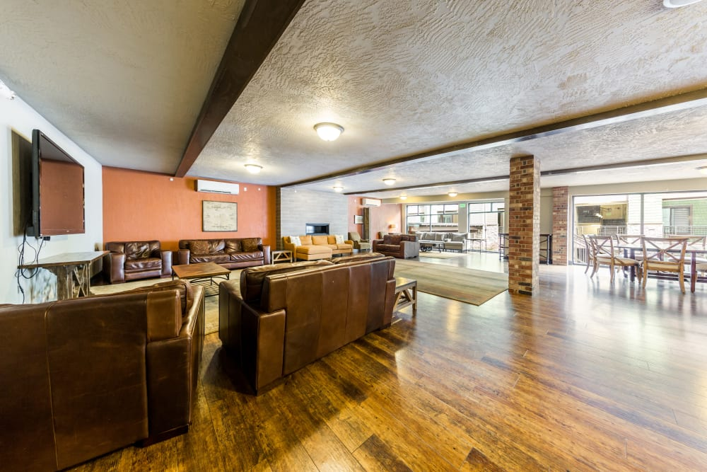 Clubroom at Copperline at Point Ruston in Tacoma, Washington