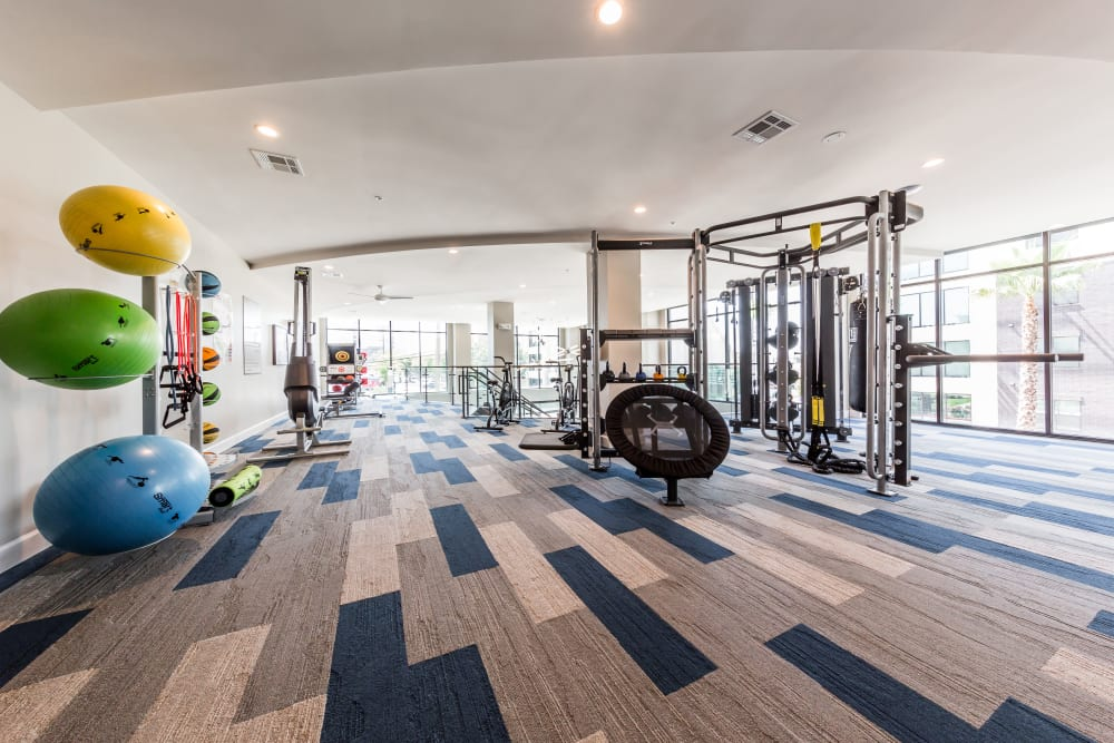 Fitness center for resident at Marq 31 in Houston, Texas