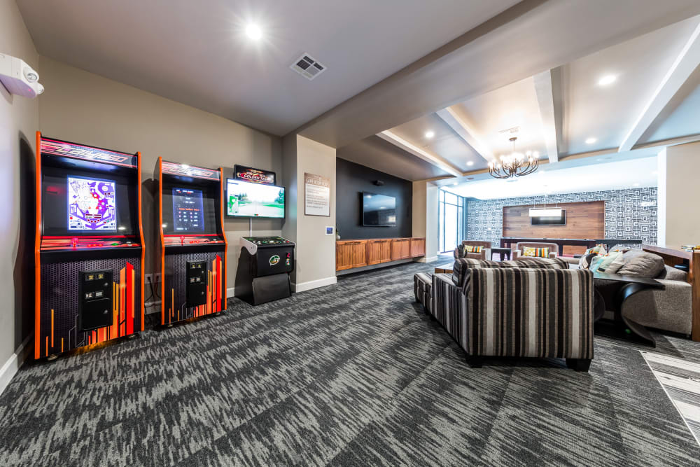 Game room for residents at Marq 31 in Houston, Texas
