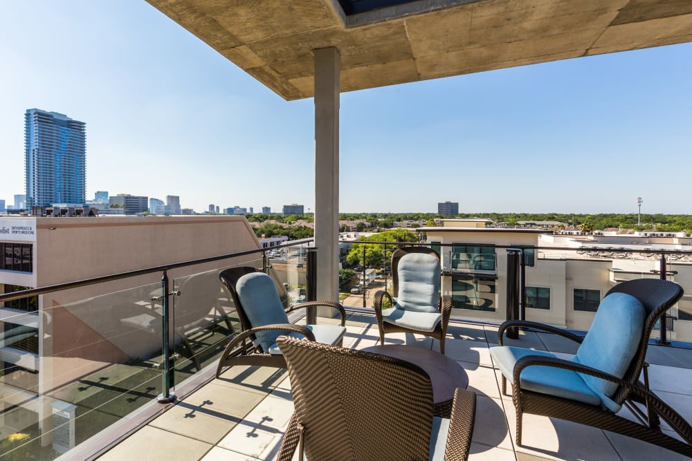 Rooftop lounge at Marq 31 in Houston, Texas