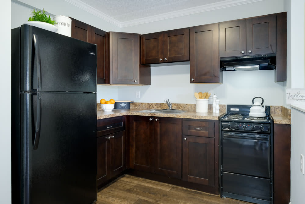 Kitchen of unit at Grand Villa of Clearwater