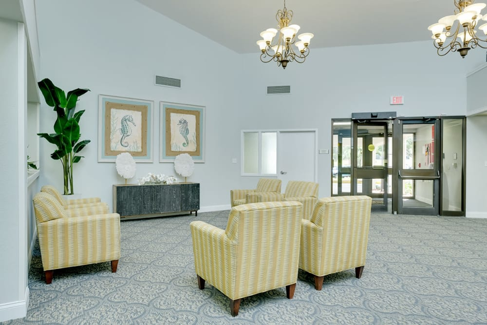 Welcome center at Grand Villa of Clearwater