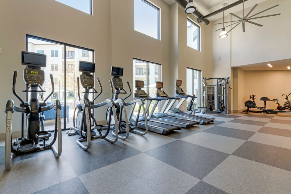 Fitness center with latest equipment at The Guthrie in Austin, Texas
