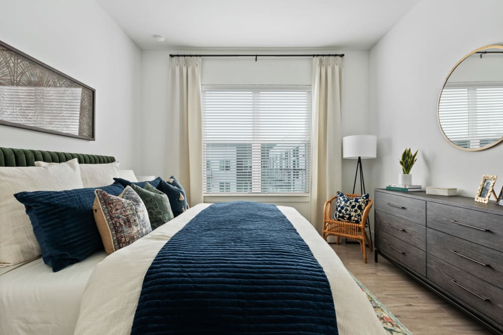 Beautifully furnished bedroom at 4600 Ross in Dallas, Texas