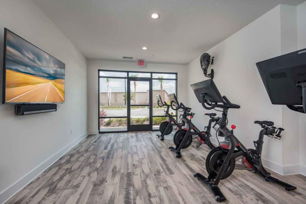 Fitness center at The Jaxon in Jacksonville, Florida