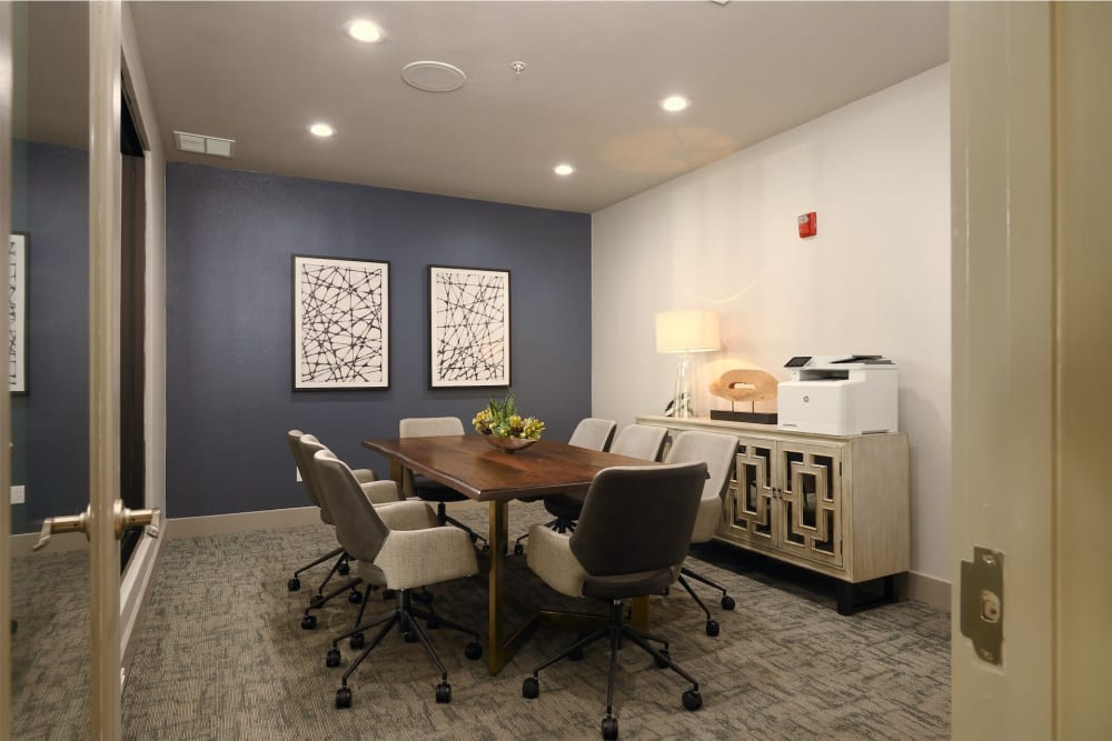 Calming meeting room at Seville Uptown in Dallas, Texas
