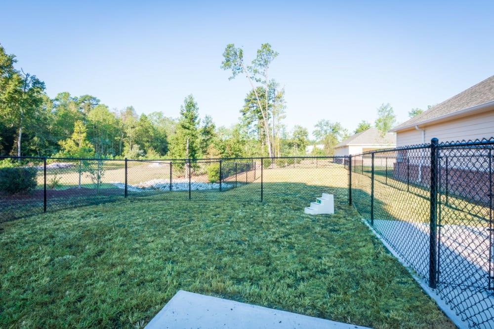 Large grass dog park at The Reserve at White Oak in Garner, North Carolina