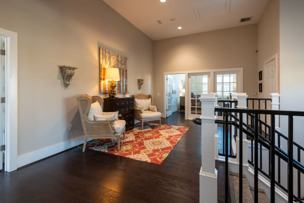 Upstairs of the clubhouse and leasing area at The Reserve at White Oak in Garner, North Carolina