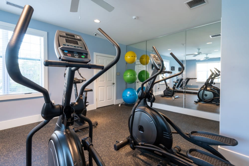 Awesome fitness center for residents at The Reserve at White Oak in Garner, North Carolina