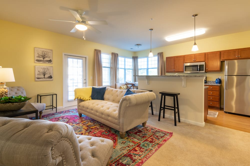 Spacious living room area in model home at The Reserve at White Oak in Garner, North Carolina