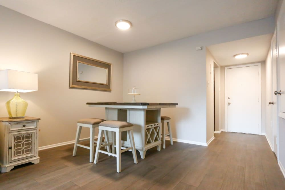 Dining area with lots of space to have a larger table at The Flats at Arrowood in Charlotte, North Carolina