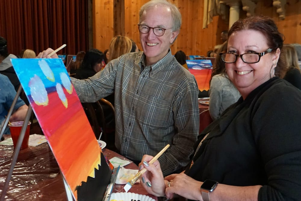 Painting event of Ray Stone Inc.