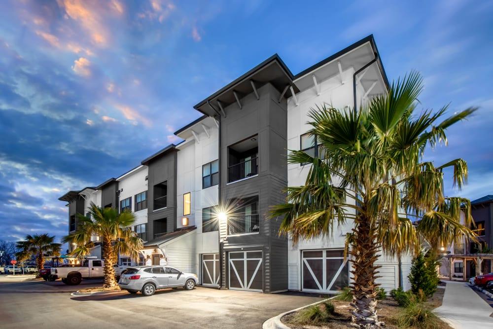 A beautiful modern exterior at Olympus Emerald Coast in Destin, Florida