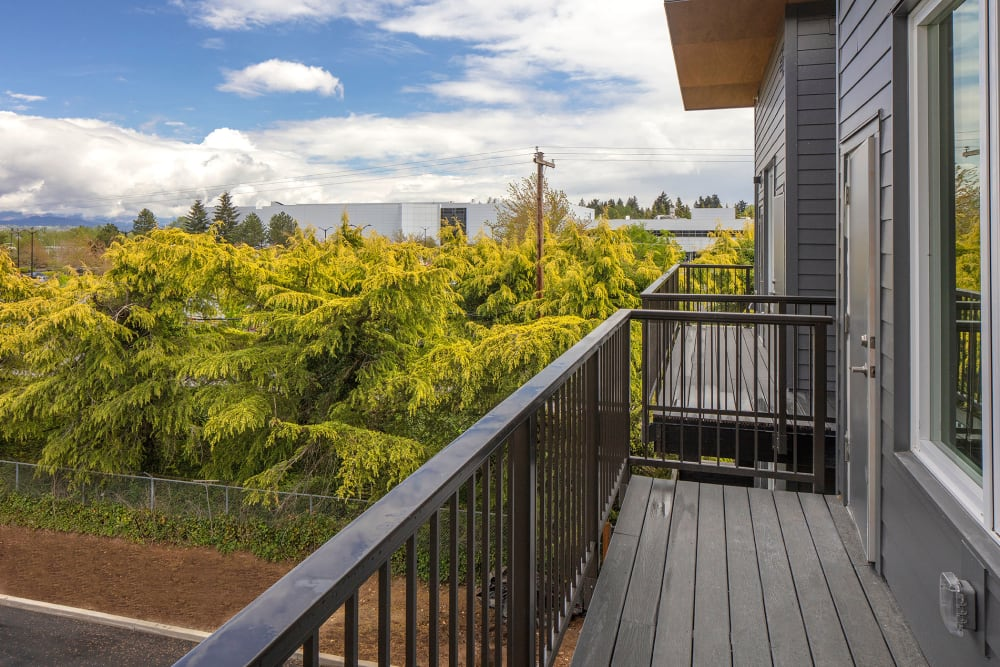 Beautiful balcony view from an apartment at Brookside Apartments