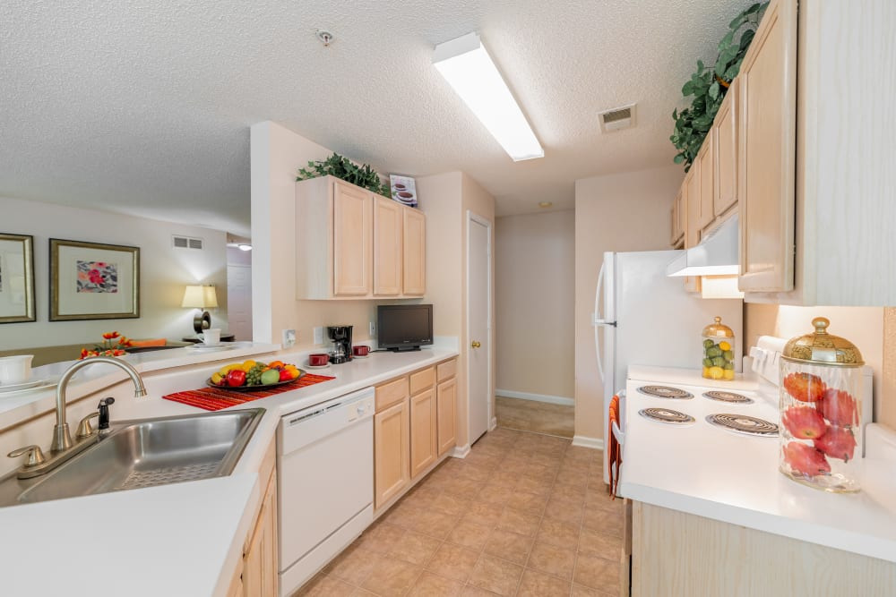 Well-Appointed Kitchen at Keswick Village Apartments & Townhomes in Conyers, Georgia