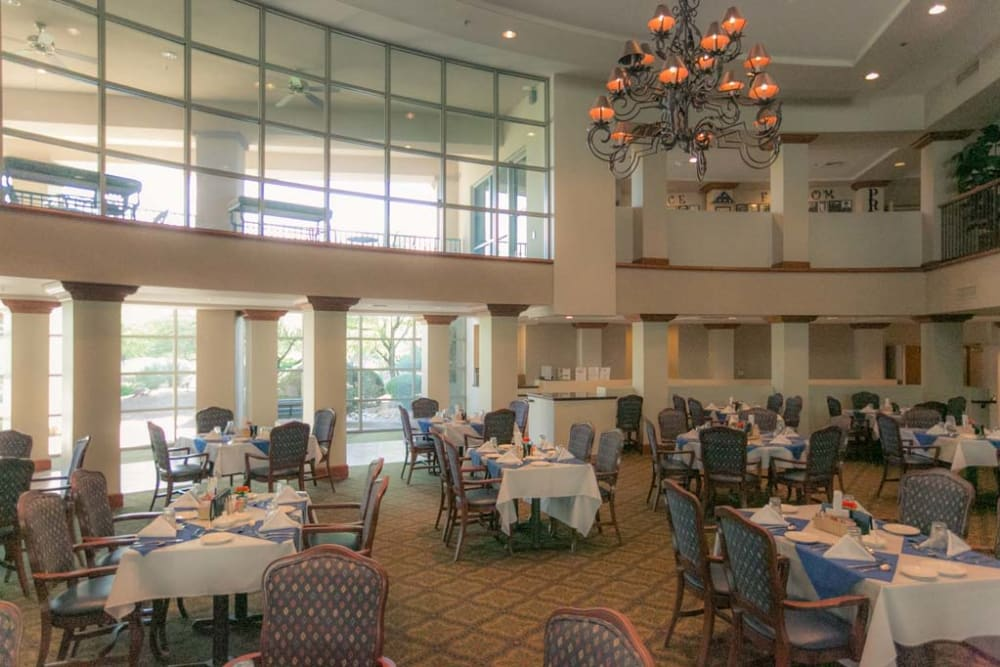 Dining room at Mountain View Retirement Village in Tucson, Arizona