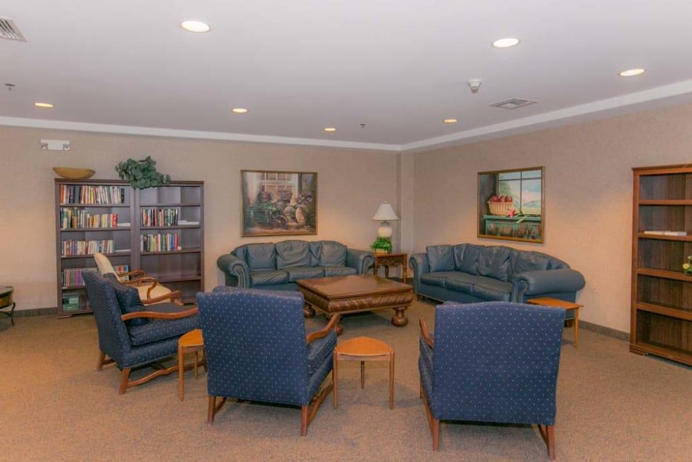 Sofas for residents at Mountain View Retirement Village in Tucson, Arizona