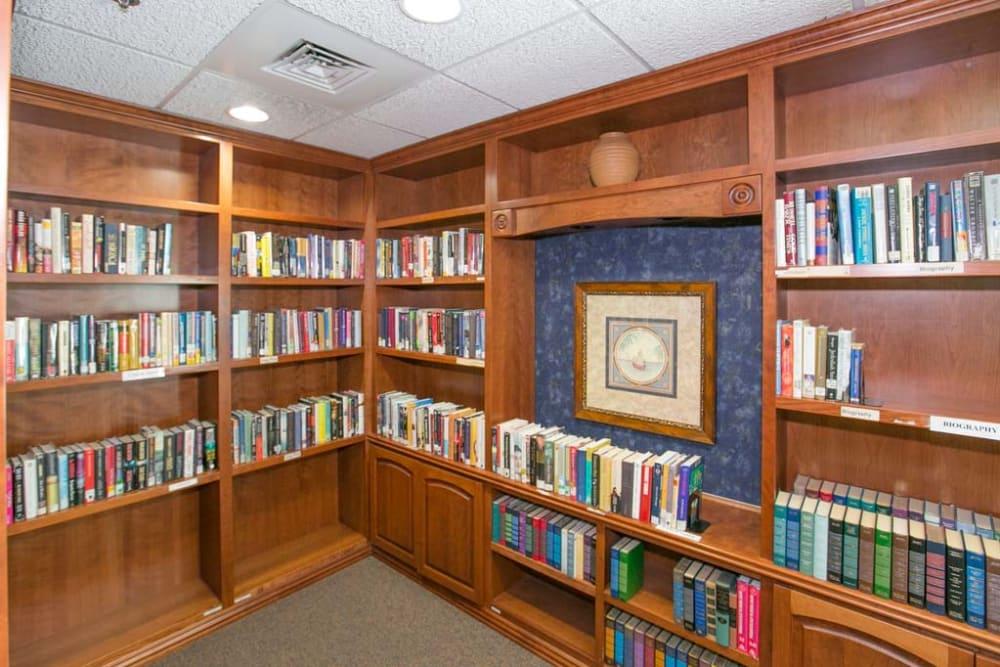 Library at Mountain View Retirement Village in Tucson, Arizona