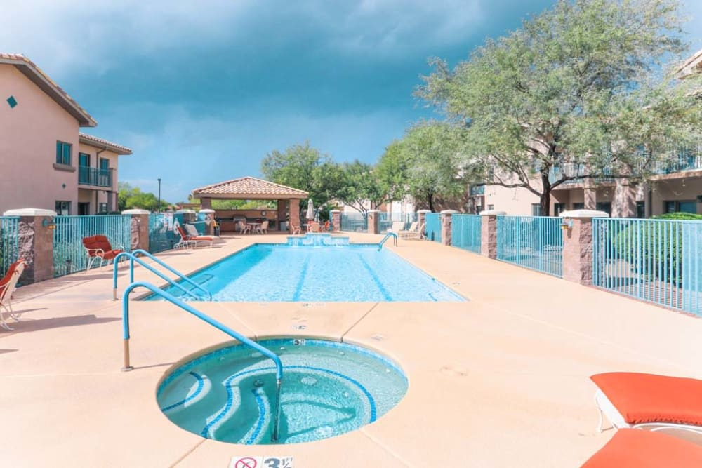 Hot tub at Mountain View Retirement Village in Tucson, Arizona