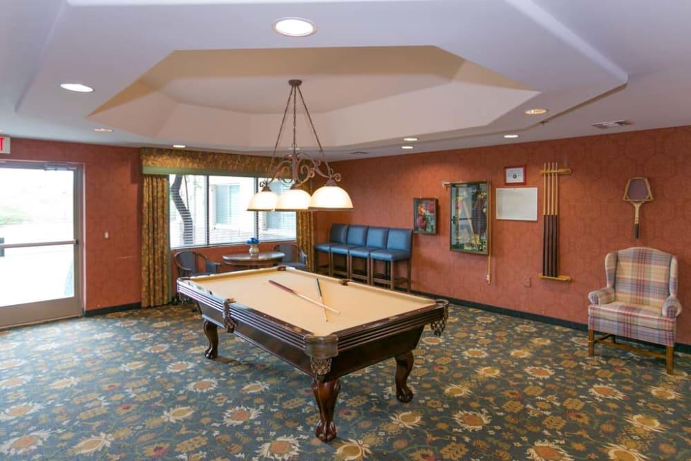 Billiards table at Mountain View Retirement Village in Tucson, Arizona