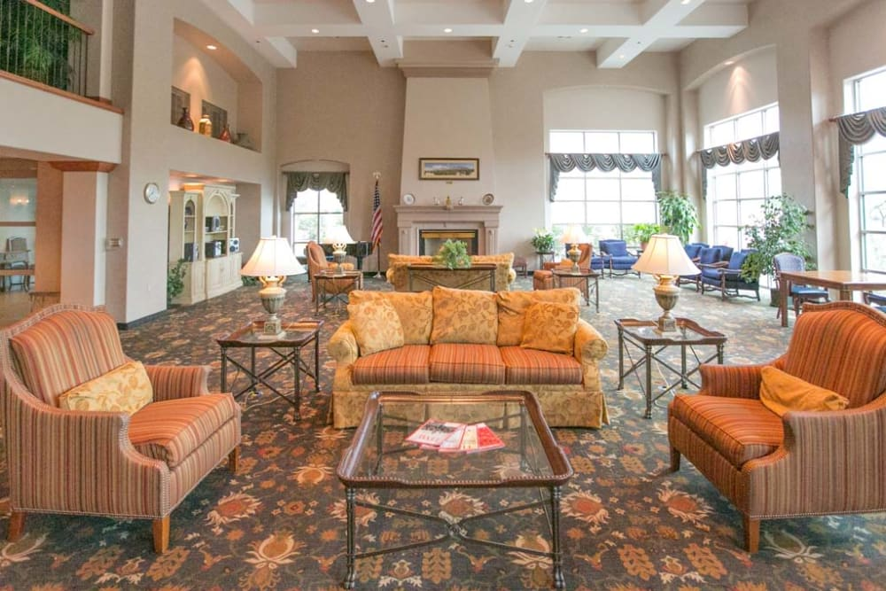 A living room area at Mountain View Retirement Village in Tucson, Arizona