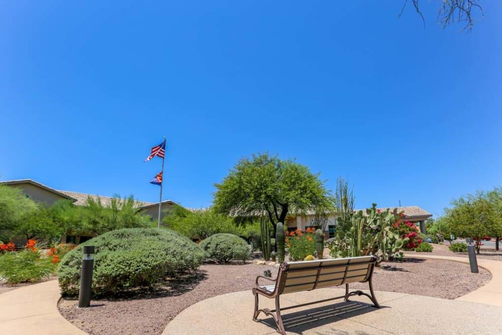 Entrance to Mountain View Retirement Village in Tucson, Arizona