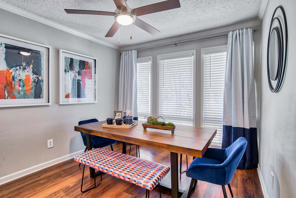 Dining Nook at The Lodge on the Chattahoochee Apartments in Sandy Springs, Georgia