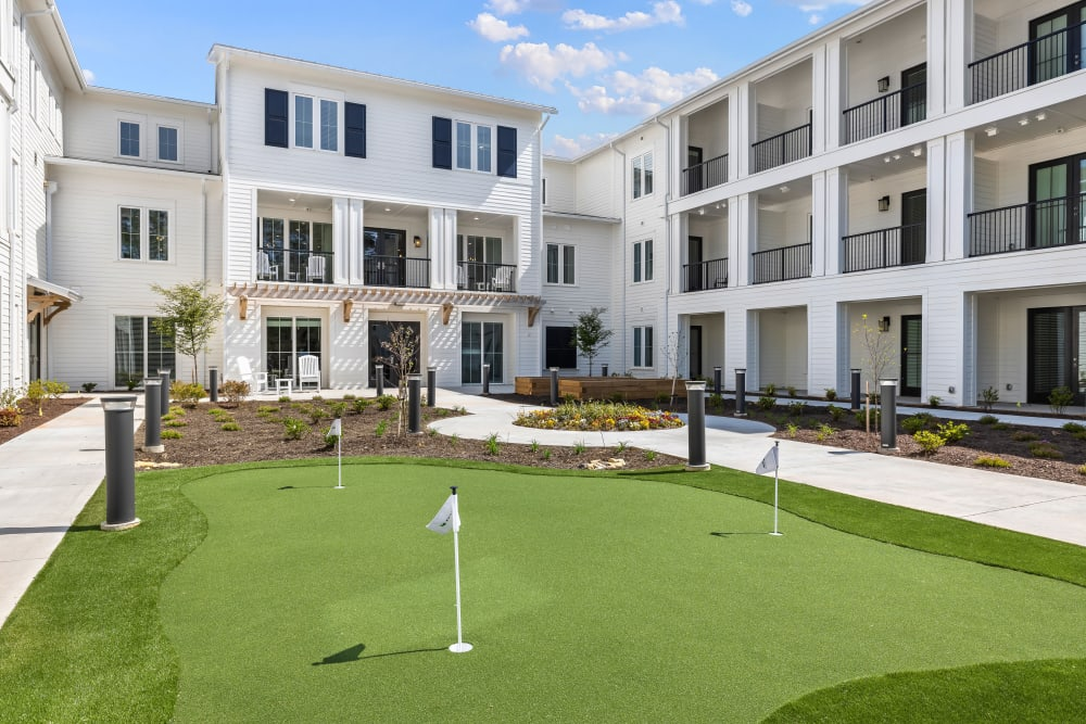 A putting green at The Claiborne at Brickyard Crossing in Summerville, South Carolina