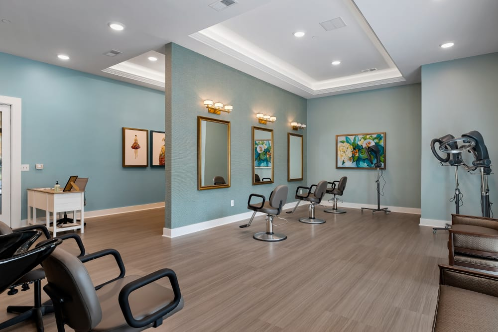 Onsite salon at The Claiborne at Brickyard Crossing in Summerville, South Carolina