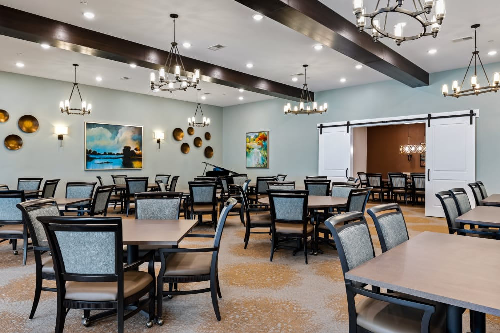 Large Dining Room at The Claiborne at Brickyard Crossing in Summerville, South Carolina