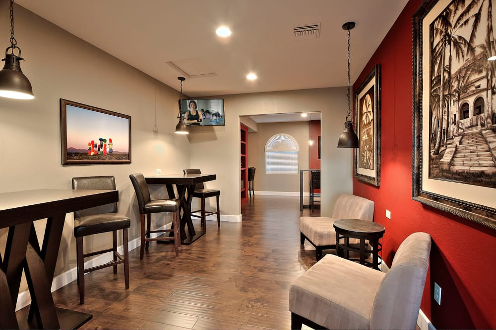 Clubhouse Resident Lounge  at Cielo Apartment Homes in Henderson, Nevada