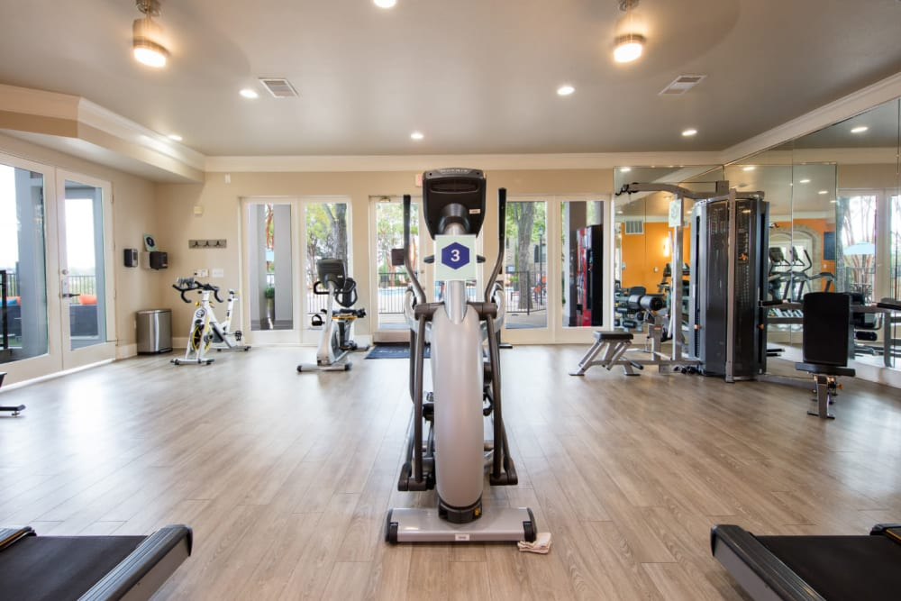 Fitness center for residents at Marquis at Treetops in Austin, Texas