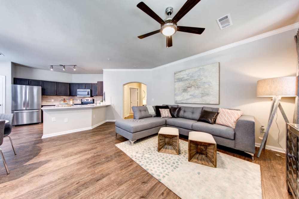 Spacious and open living area at Marquis at Cinco Ranch in Katy, Texas