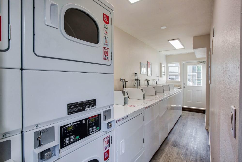 Onsite 24-hour clothes care facilities at Pleasanton Place Apartment Homes in Pleasanton, California